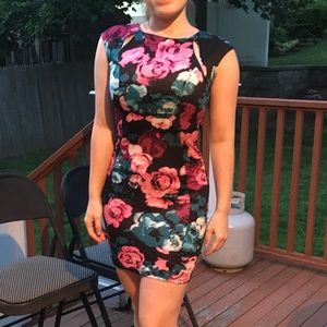 Love...Ady floral bodycon dress